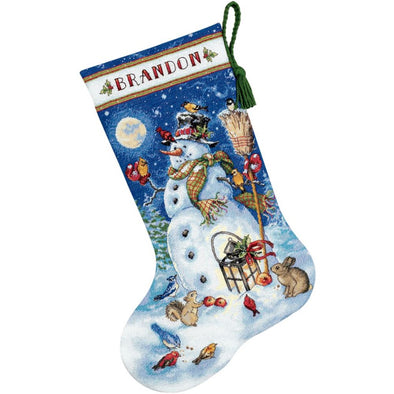 Dimensions 70-08839 Snowman and Friends Stocking