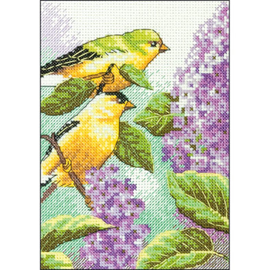 DIM70-65153 Goldfinch and Lilacs