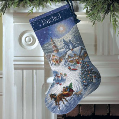 Dimensions 8712 Sleigh Ride  Stocking