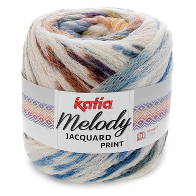 Melody Jacquard Print 505 Off White Blue