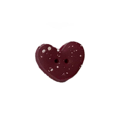 SB001DRDS Speckled Heart Deep Red Small