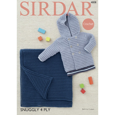 Sirdar 4808 Snuggly 4 Ply Jacket and Blanket