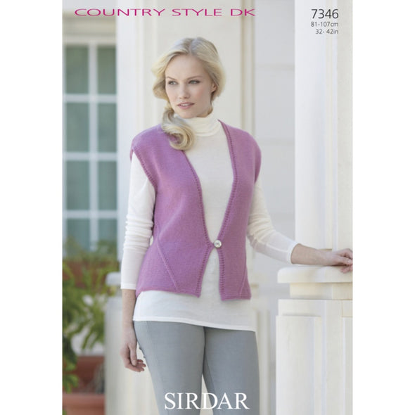 Sirdar 7346 Country Style DK Vest