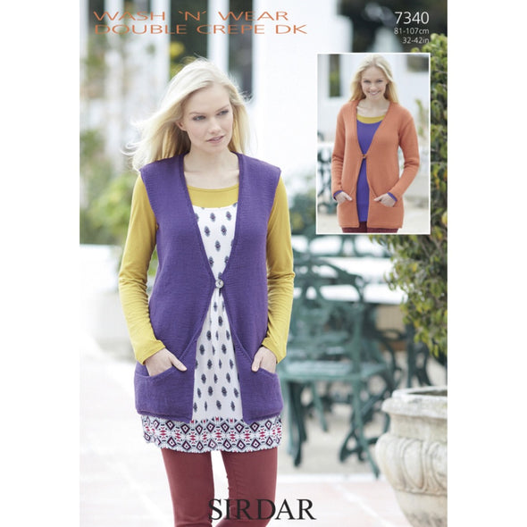 Sirdar 7340 Double Knit Tunic