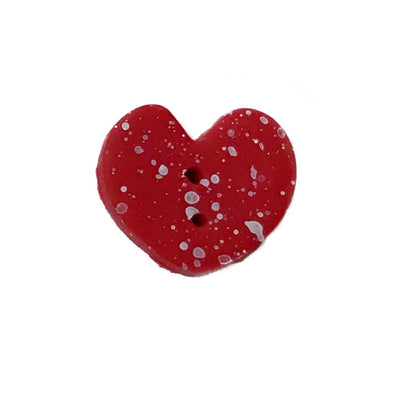 SB001M Red Speckled Heart
