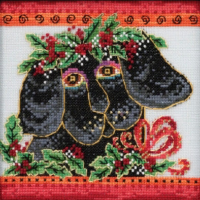 Laurel Burch 30-2013 Christmas Puppy