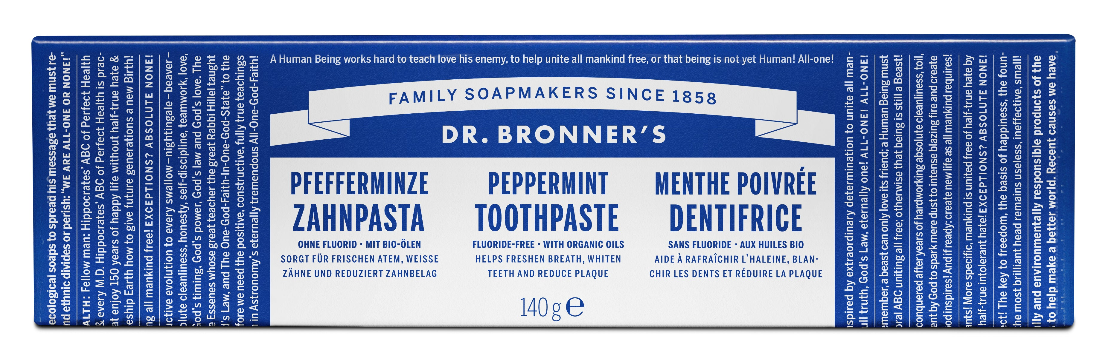 DR. Bonner's All-one Peppermint Toothpaste - Luomu piparminttu hammastahna