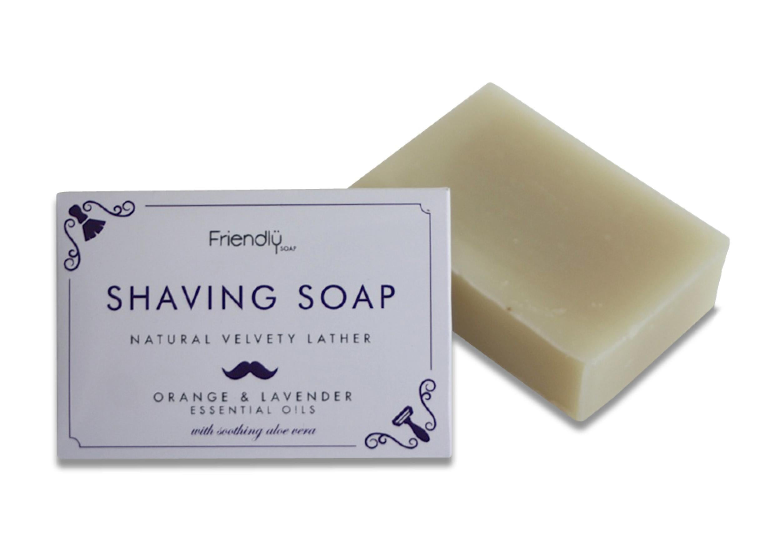 Friendly Soap Shaving Soap Bar Appelsiini-Laventeli n. 90g