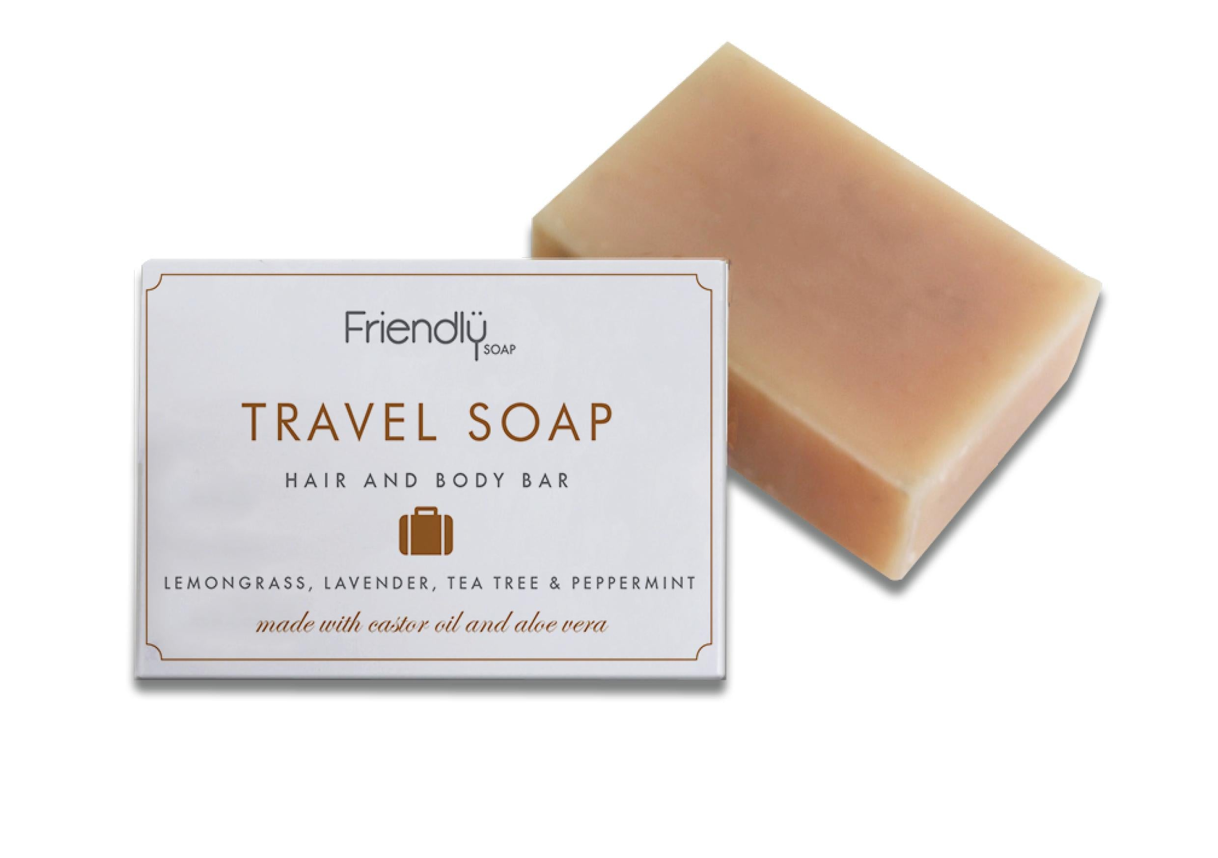 Friendly Soap Travel Soap Bar 3-in-1 Matkasaippua n. 90g