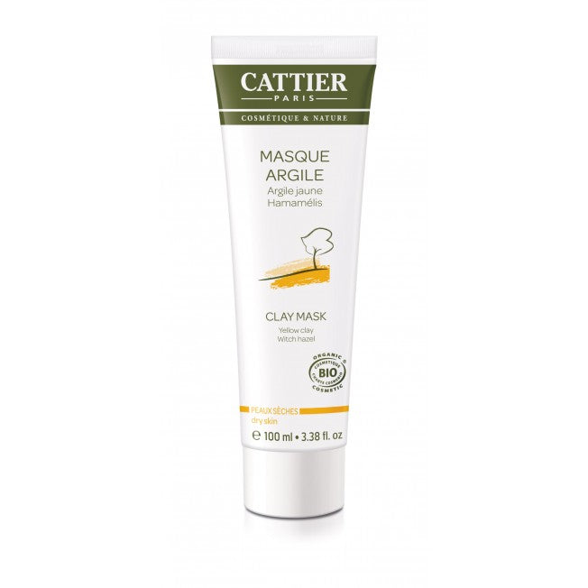 Cattier Paris Yellow Clay Mask - Savinaamio Kuivalle Iholle 100ml