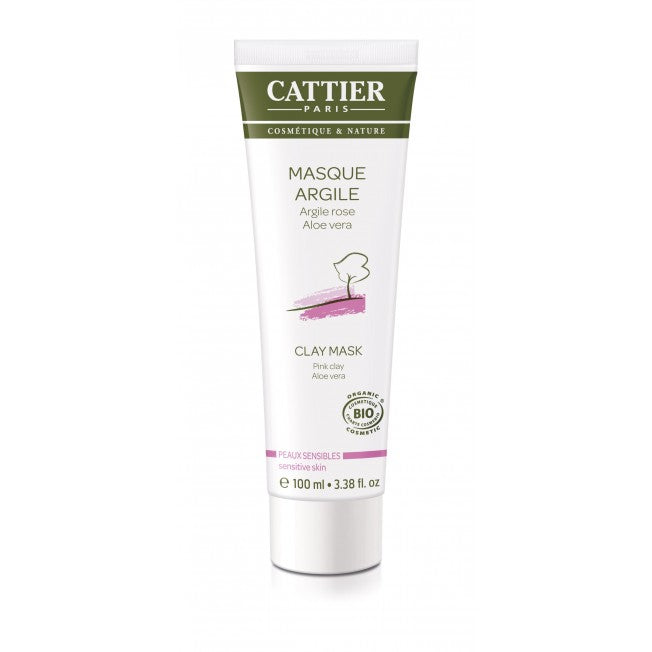 Cattier Paris Pink Clay Mask - Savinaamio Herkälle Iholle 100ml