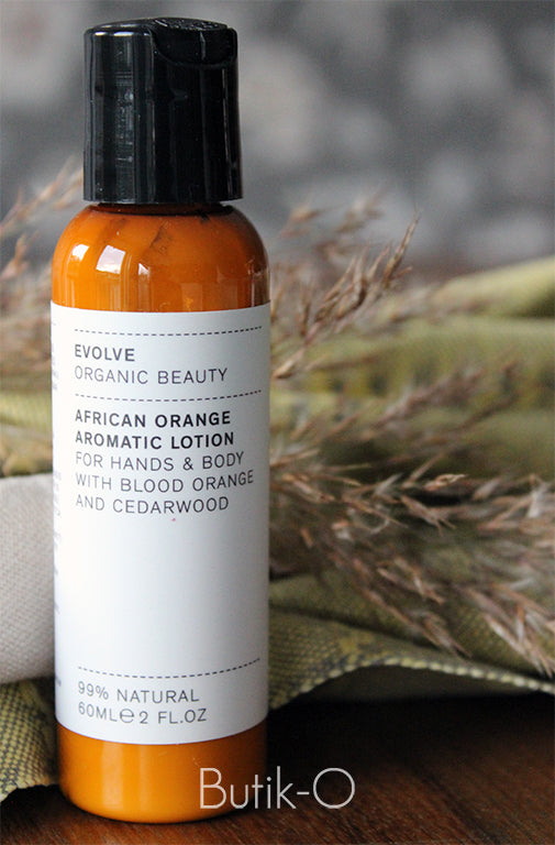 Evolve Organic African Orange Aromatic Lotion - Vartalovoide - Matkakoko