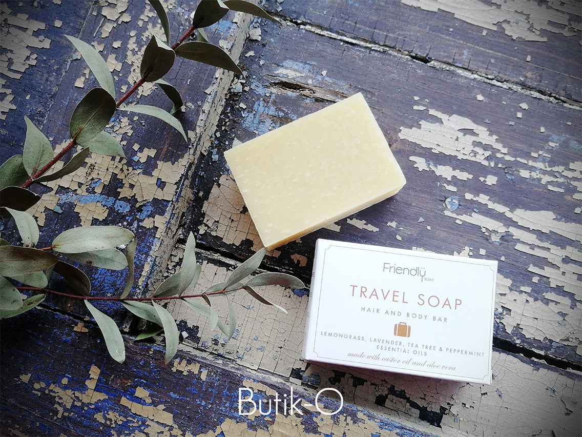 Friendly Soap Travel Soap Bar 3-in-1 Matkasaippua n. 90g - Butik-O