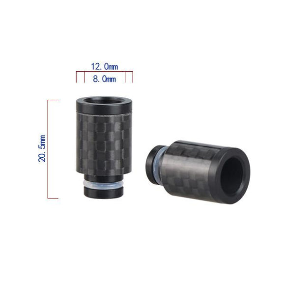 Short Carbon Fibre Wide Bore Drip Tip