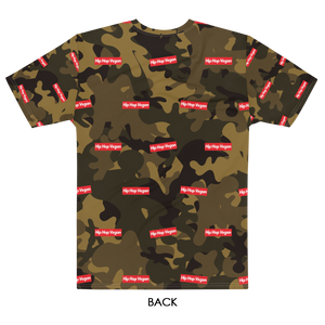Unisex Hip Hop Vegan Box Logo Camo T-Shirt
