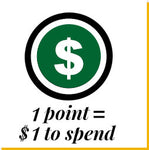 1 Point = 1$ to Spend