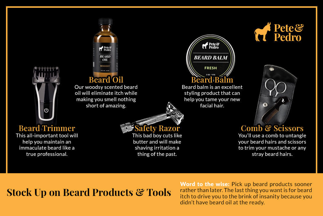 Stock Up on Beard Products and Tools