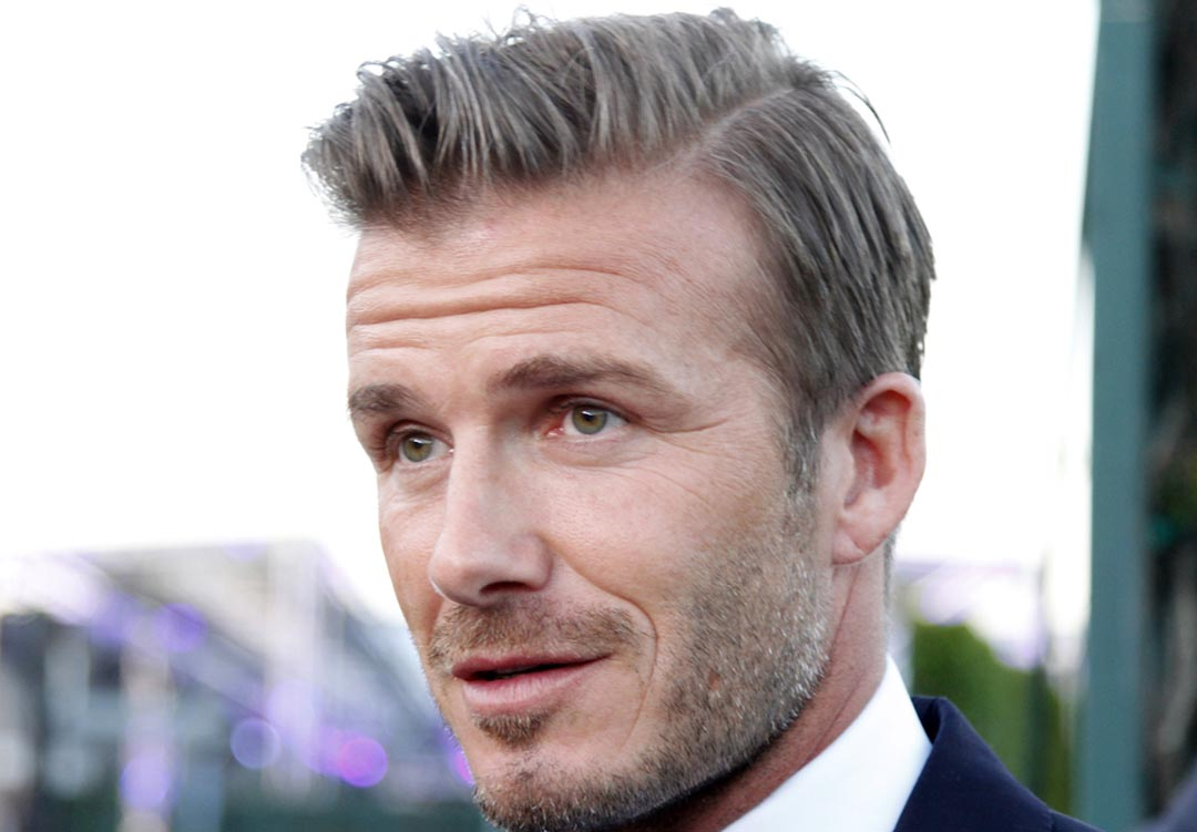 david beckham side part