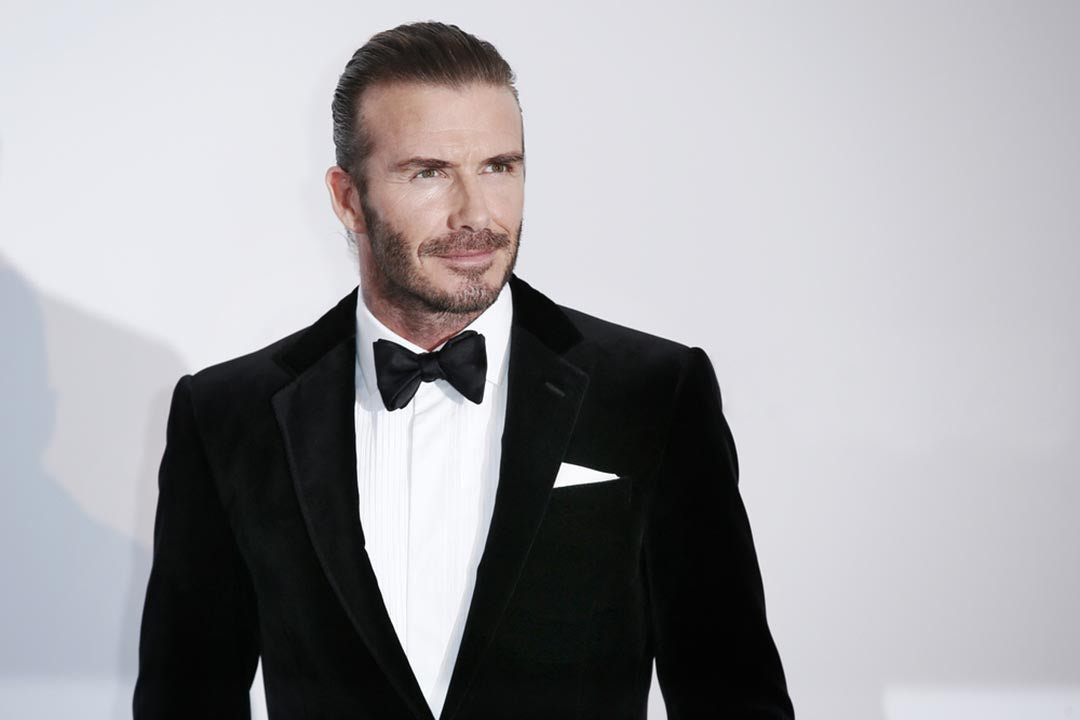 david beckham slicked back hair