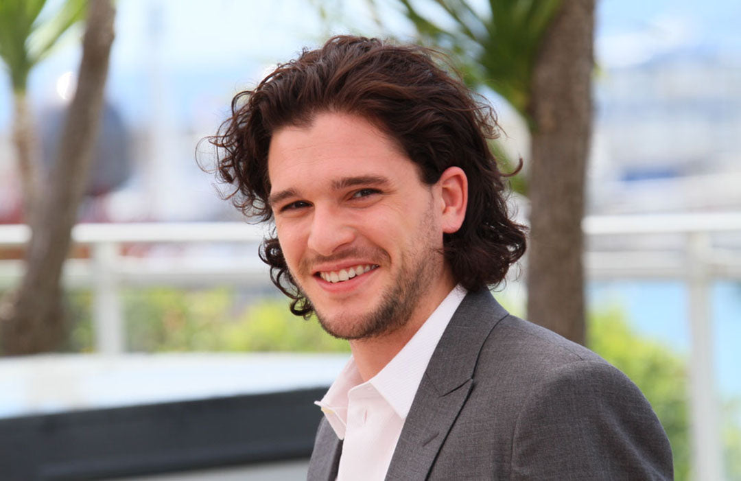 kit harington sporting messy layers