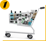 Shop & Earn (Shopping Cart Image)