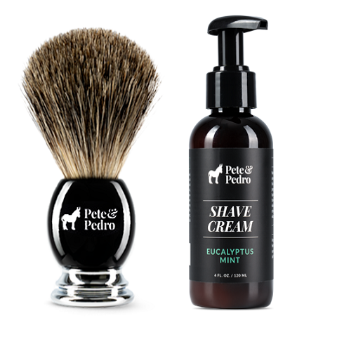 Shave Cream & Shave Brush Set