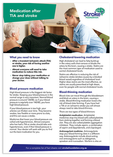 Fact sheet - Medication after stroke (50 pack)