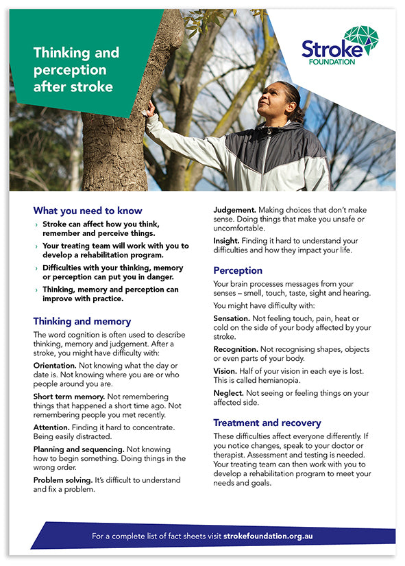Fact sheet - Thinking and perception after stroke (50 pack)