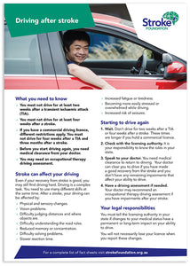 Fact sheet - Driving after stroke (50 pack)