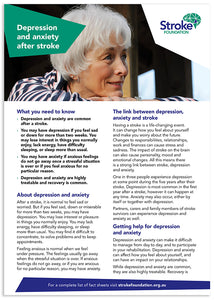 Fact sheet - Depression and anxiety after stroke (50 pack)