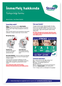 About Stroke fact sheet - Türkçe (Turkish)