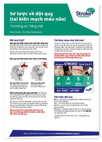 About Stroke fact sheet (Vietnamese)