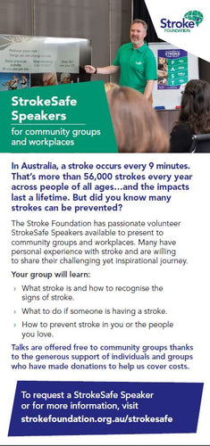 StrokeSafe Talks Promotional Flyer (pack of 50)