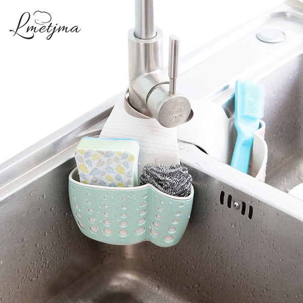 LMETJMA Kitchen Sponge Drain Holder Wheat Fiber Sponge Storage