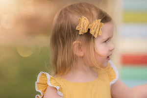 Trixie Bow - Yellow vintage lace