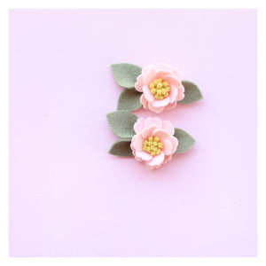 Little bloom pigtails - baby pink