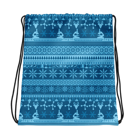 Ice Blues Drawstring Bag