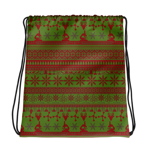 Red & Green Drawstring Bag