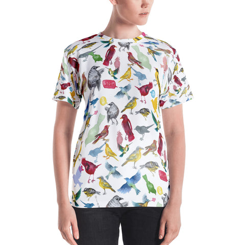 Ornithology (Birds) All Over Print Shirt (Women's)
