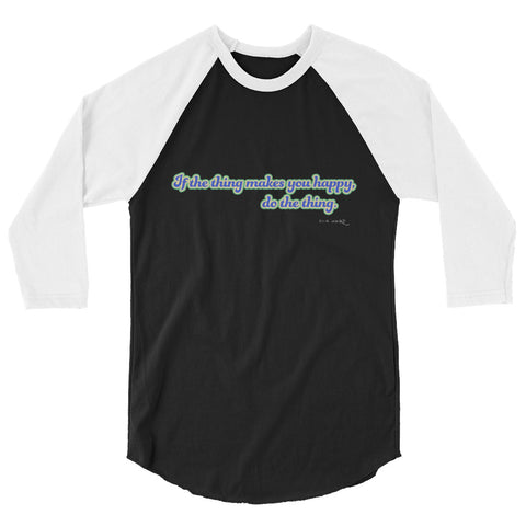 Do The Thing Baseball Tee (Dark Torso)