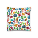 Gemology Throw Pillow