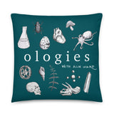 Ologies Logo Teal Pillow