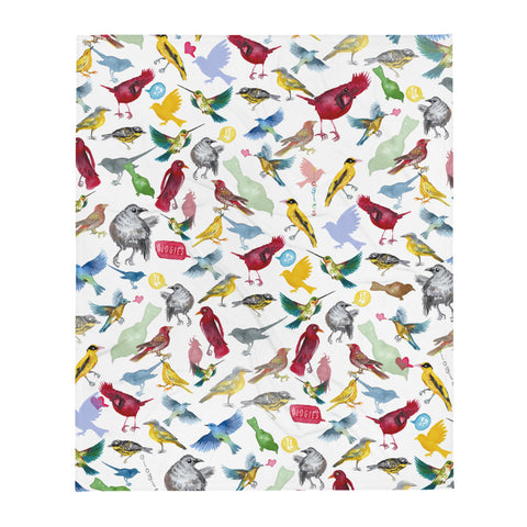 Ornithology (Birds) Throw Blanket
