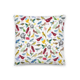 Ornithology (Birds) Throw Pillow