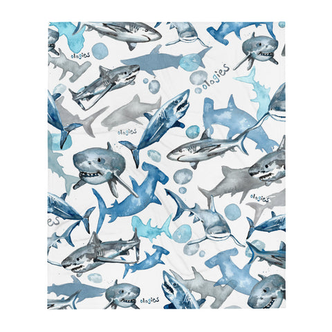 Selachimorphology (Sharks) Throw Blanket