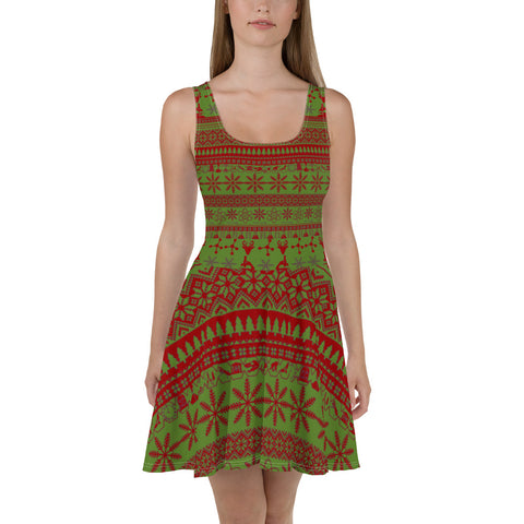 Red & Green Better Sweater Dress
