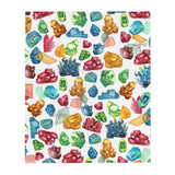 Gemology (Gems) Throw Blanket