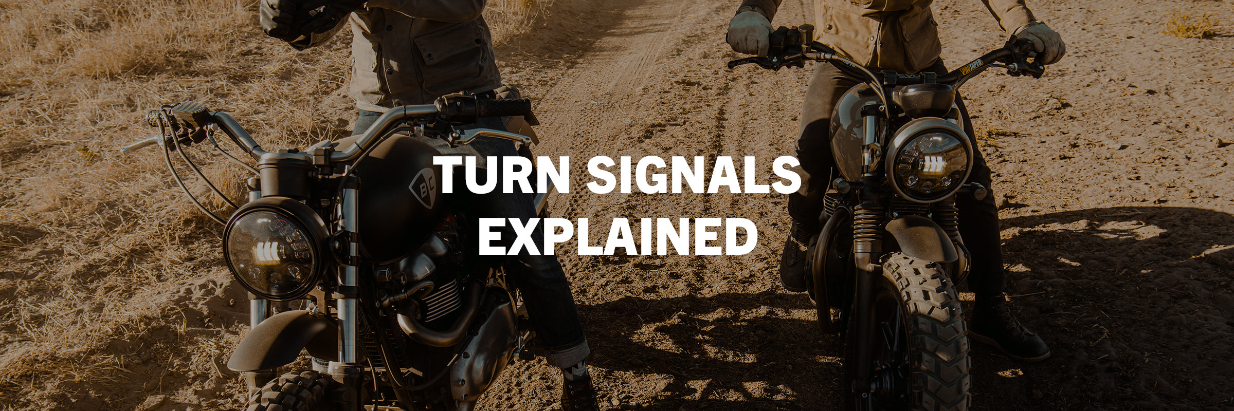 British Customs Turn Signals for Triumph Motorcycles