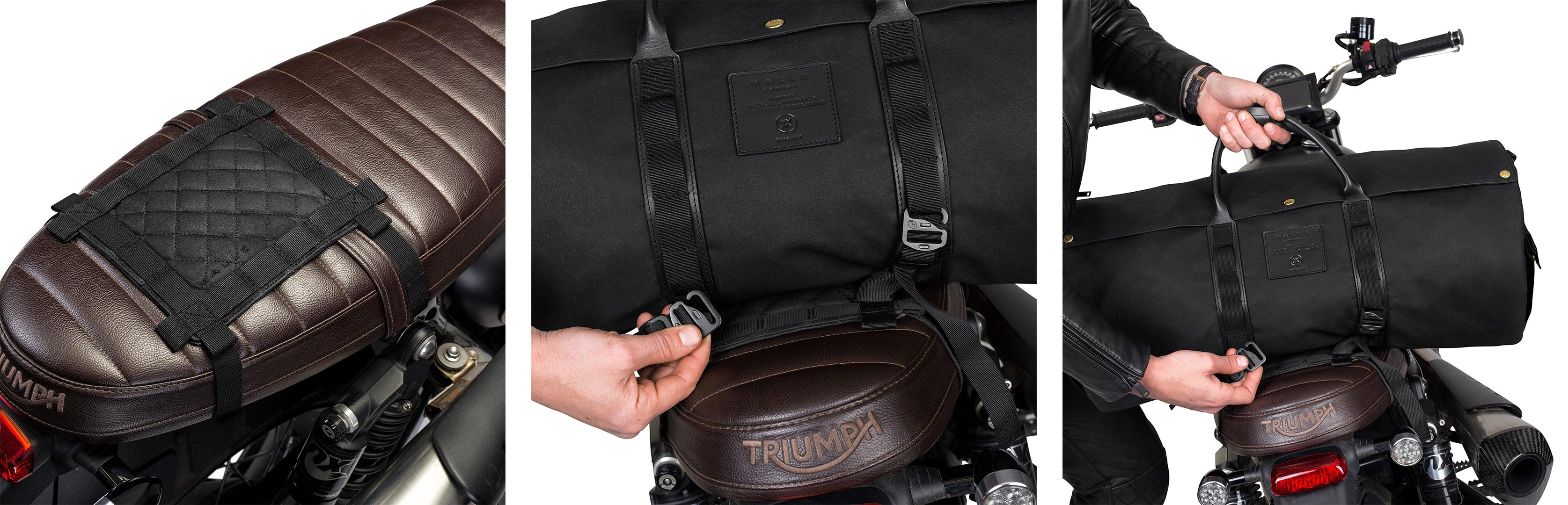 Installing a Malle Duffel on your triumph