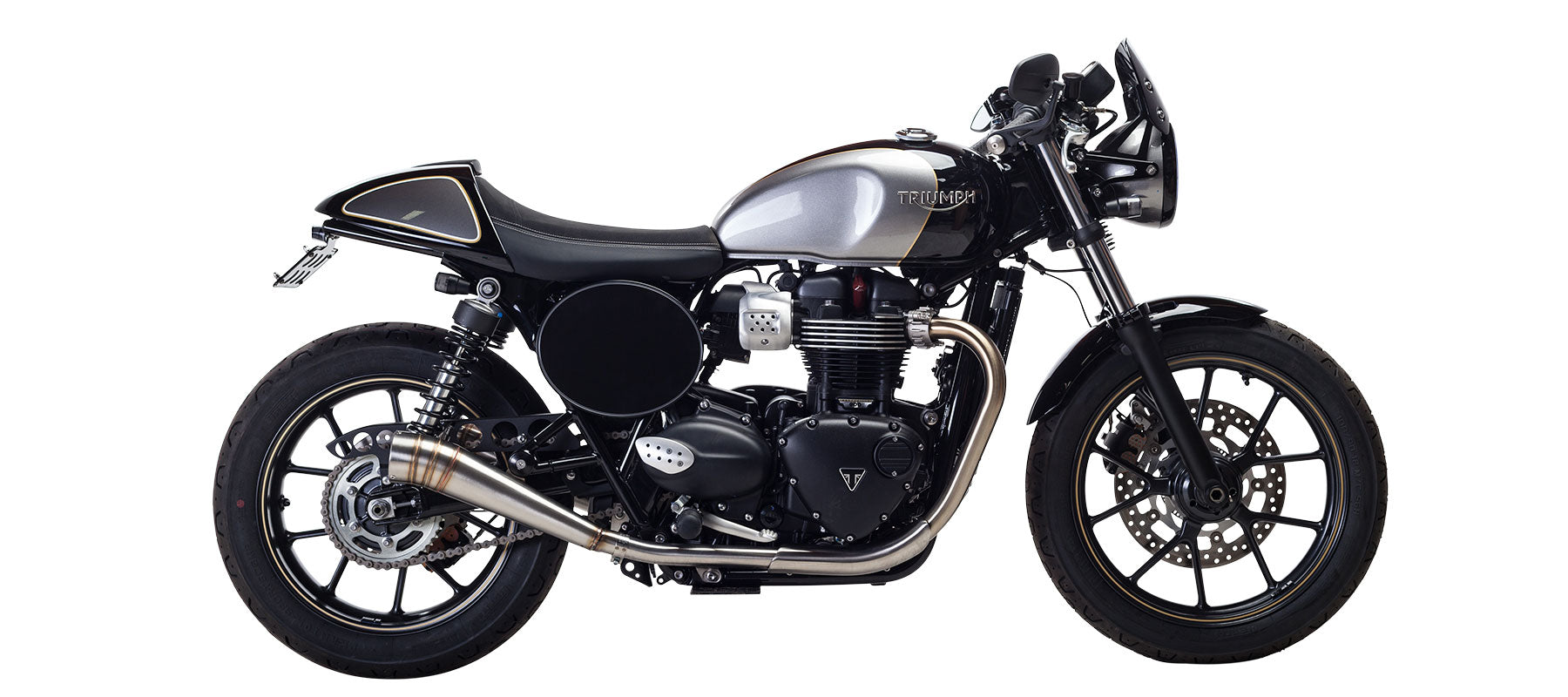 GP Slip On Exhaust for Triumph Street Cup by British Customs